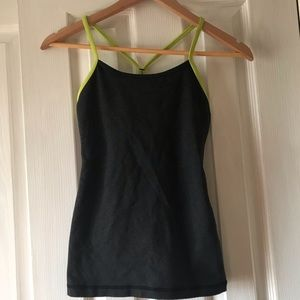 Lululemon athletica black and lime sports top